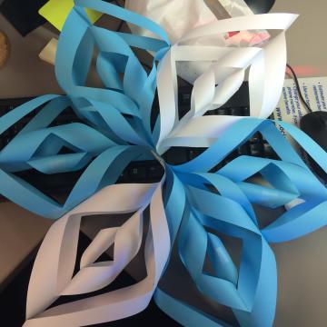 3D Paper Snowflake   Kids' Crafts   Fun Craft Ideas   FirstPalette.com   360x360