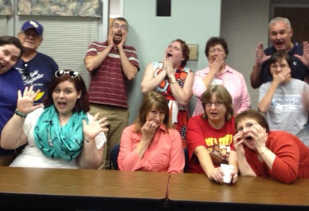 Beauregard Parish Library staff and patrons faced their fears with a special screening of locally filmed horror movie East Stackton.