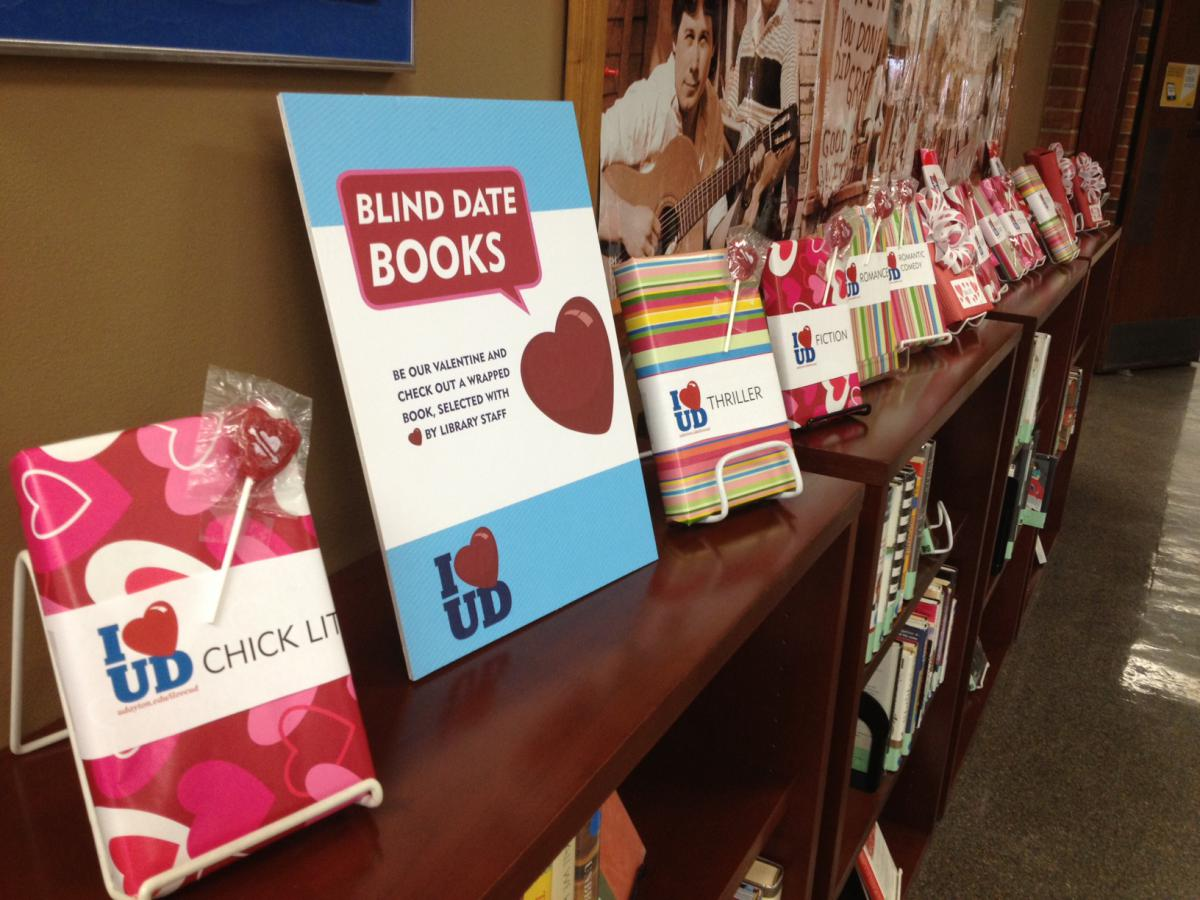 """Blind-date books"" on display"