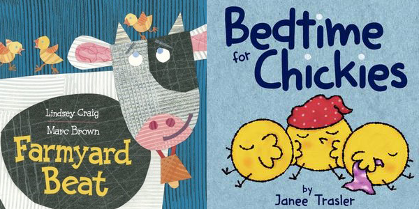 Farmyard Beat and Bedtime for Chickies book covers