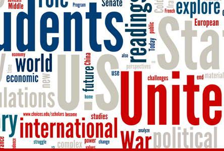Word cloud: students, unite, international, world