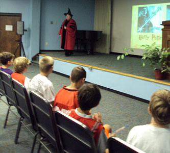 "Students attend ""Harry Potter's World: Renaissance Science, Magic, and Medicine."""