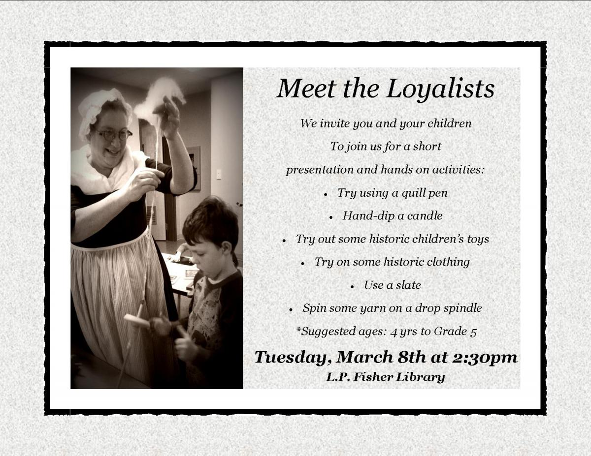 A flier promoting Meet the Loyalists