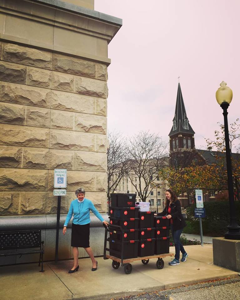 The Make it @ your library kits are delivered to the Illinois State Library