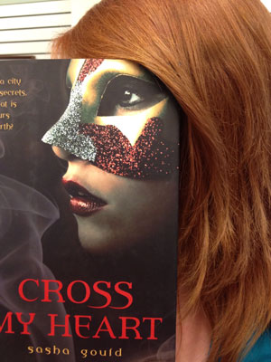 A teen creates a bookface with a favorite book