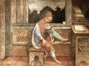 Vincenzo Foppa, The Young Cicero Reading, c. 1464.  Wallace Collection, London.