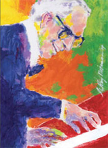 JAM 2010 poster by Leroy Neiman, featuring Dave Brubeck