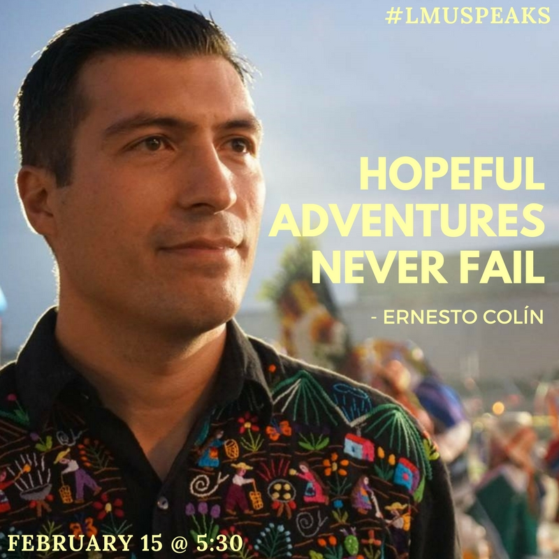 Hopeful Adventures Never Fail poster for LMU Speaks