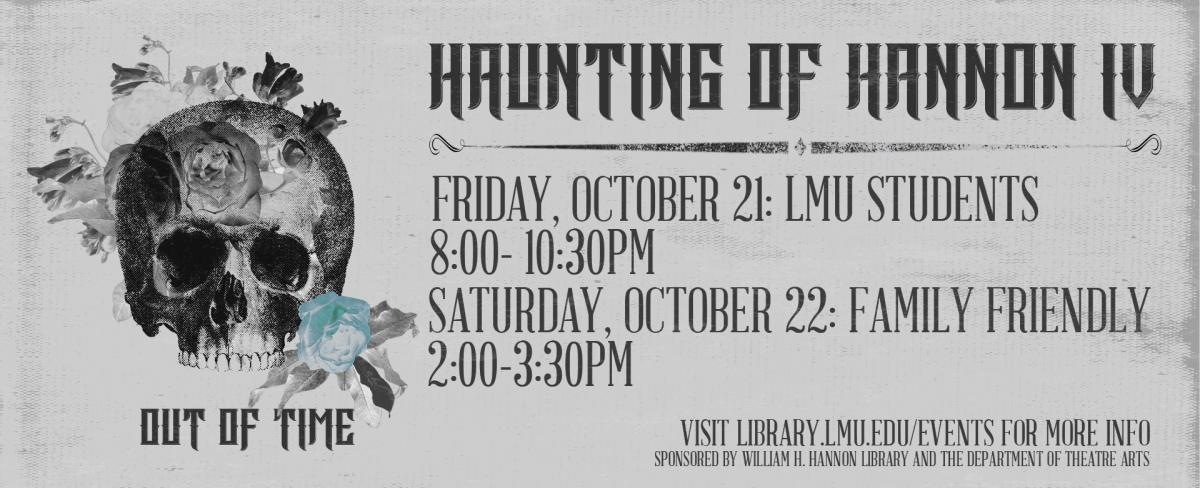 Digital graphic for Haunting of Hannon Library 2016