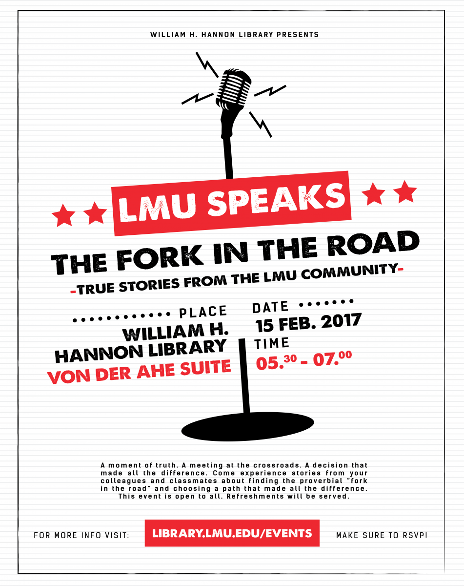 Poster for LMU Speaks