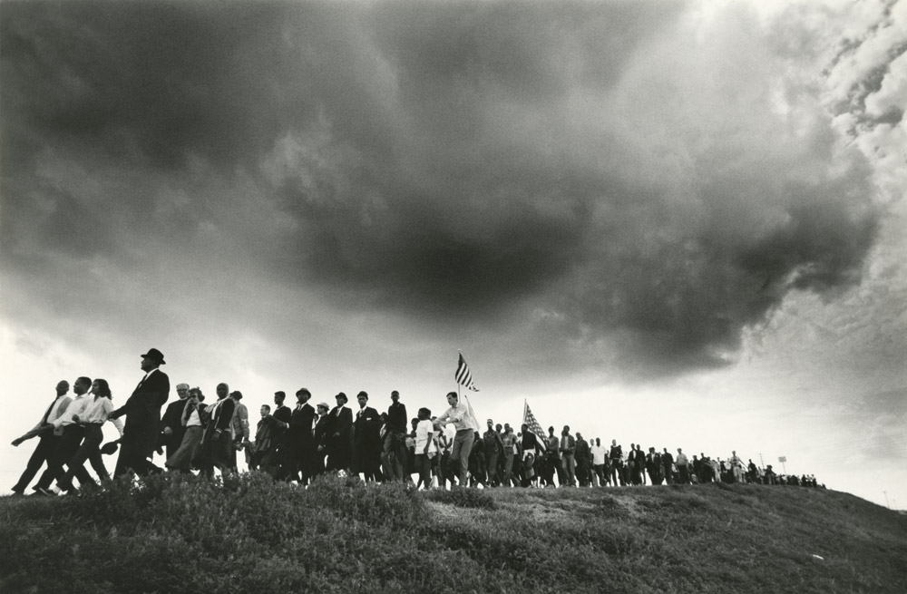 James Karales (1930–2002), Selma-to-Montgomery March for Voting Rights in 1965, 1965.  Photographic print. Located in the James Karales Collection, Rare Book, Manuscript, and Special Collections Library, Duke University. Photograph © Estate of James Karales.