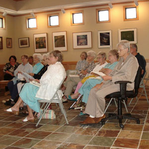 A book discussion group participating in the Kansas Humanities Council's TALK program