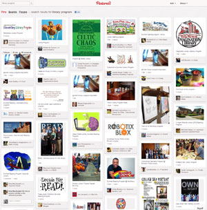 Just a taste of the library programming–related pins on Pinterest.