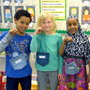 Kids with poems in their pockets. Nan Knutsen, Falcon Heights Elementary School
