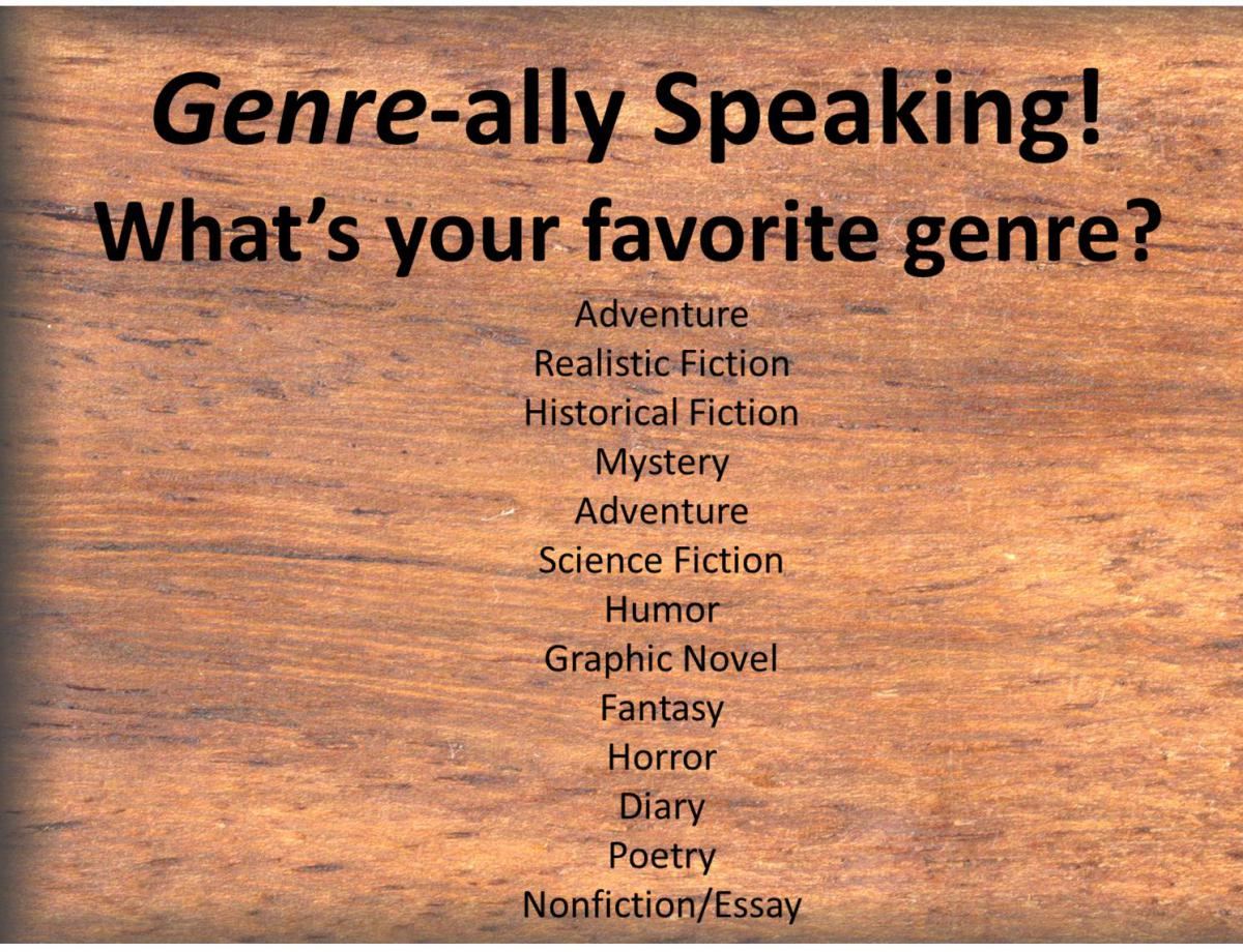 Genre-ally Speaking! What's your favorite genre?