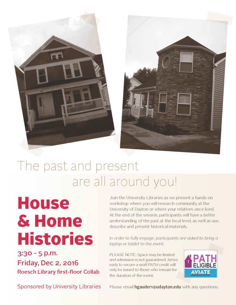 House and Home Histories flier