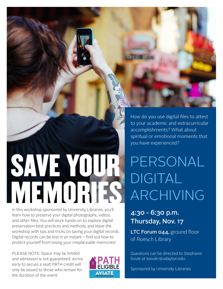 Save Your Memories flier