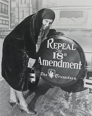 "Women spurred the early temperance campaigns but eventually led the movement to end Prohibition, after its failures became obvious. A ""Crusader"" poses.  (Library of Congress, Prints and Photographs Division)"