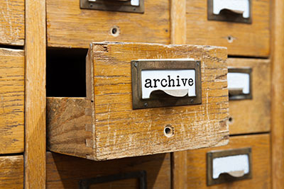 Archive card catalog