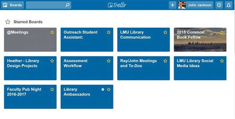 Screenshot of a Trello homepage