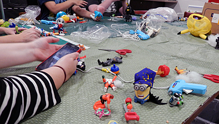 Teens making creations in FrankenHeroes