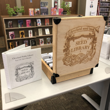 Photo of Cleveland Public Library's Seed Library box