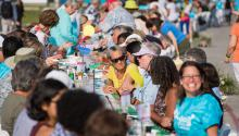 People seated at the Longest Table Event