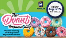 Ad for Teen Donut Diorama Day
