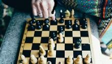 Photo of a chess game in progress