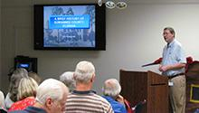 Author and historian Eric Musgrove explains the county's history during a Lunch n' Learn session.