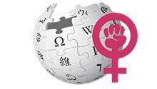 Wikipedia logo with feminism symbol, Photo credit: Wikimedia Foundation / Psubhashish, Saileshpat