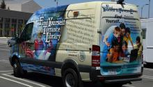 """""""Find Yourself at the Torrance Library"""" van"""