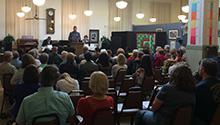 Sen. King and a local community college debate team discuss Senate Bill 149.