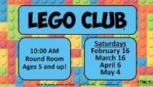 Lego Club at the YMCA flier