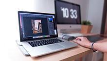 Photo editing on a laptop: Photo by Domenico Loia on Unsplash