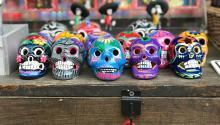 Painted sugar skulls