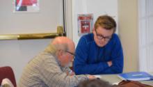 Teen tutoring older man