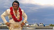 Elvis on a boat