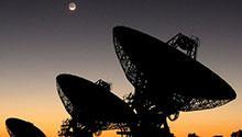 Satellite broadcasting dishes