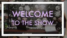 Screenshot taken from the beginning of the live stream. Text reads: Welcome to the show