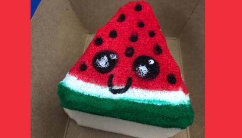 watermelon squishy toy