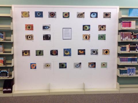 An art display at the Teen Art Show