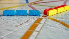 close up of Ticket to Ride board game