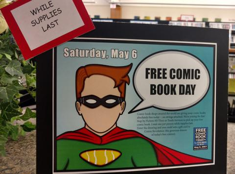 Free Comic Book Day is the first Saturday in May