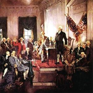 The Scene at the Signing of the Constitution of the United States, painted by Howard Chandler Christy in 1940.