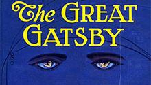 """The Great Gatsby"" book cover"