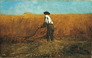 Winslow Homer, The Veteran in a New Field  (The Metropolitan Museum of Art, Bequest of Miss Adelaide Milton de Groot (1876–1967), 1967 (67.187.131). Image © 1995 The Metropolitan Museum of Art)