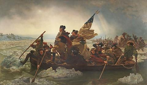 Emanuel Leutze (American: 1816–1868), Washington Crossing the Delaware, 1851, Oil on canvas; 149 x 255 in. (378.5 x 647.7 cm): The Metropolitan Museum of Art, Gift of John Stewart Kennedy, 1897 (97.34) (Photograph © 1992 The Metropolitan Museum of Art)