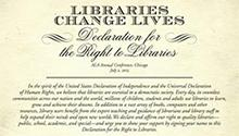 Libraries Change Lives: Declaration for the Right to Libraries