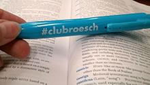 #clubroesch highlighter photo shared by a University of Dayton student via Twitter.